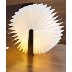 Wooden Led Book Lamp Brown