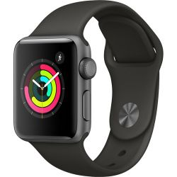 Apple Watch Series 3 38mm Smartwatch (GPS Only, Space Gray Aluminum Case, Gray Sport Band)
