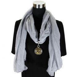 Fashion Scarf Necklace Ash - A1-SN18