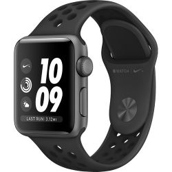 Apple Watch Nike+ Series 3 38mm Smartwatch (GPS Only, Space Gray Aluminum Case, Anthracite/Black Nike Sport Band Band)  MQKY2