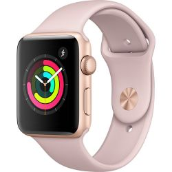 Apple Watch Series 3 42mm Smartwatch (GPS Only, Gold Aluminum Case, Pink Sand Sport Band)MQL22