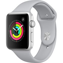Apple Watch Series 3 42mm Smartwatch (GPS Only, Silver Aluminum Case, Fog Sport Band) MQL02