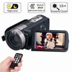 """Full HD Video Camera With 24MP, 18x Zoom,3.0"""" Display, Night Vision - P75"""