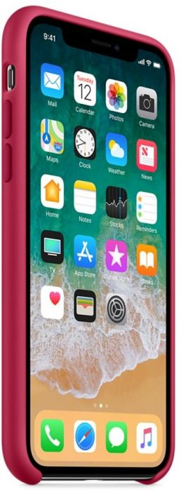 online retailer 63fd3 3421b Apple iPhone X Silicone Case - Rose Red, MQT82