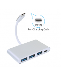 Type C to 3 USB Hub with USB C Port