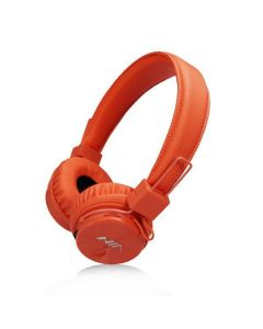 NIA X3, Bluetooth Headphones With Mic-Orange